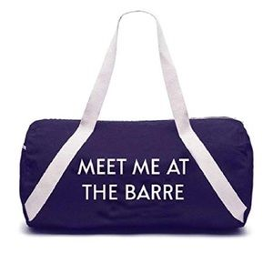 Private Party Meet Me At The Barre Gym Bag NWT
